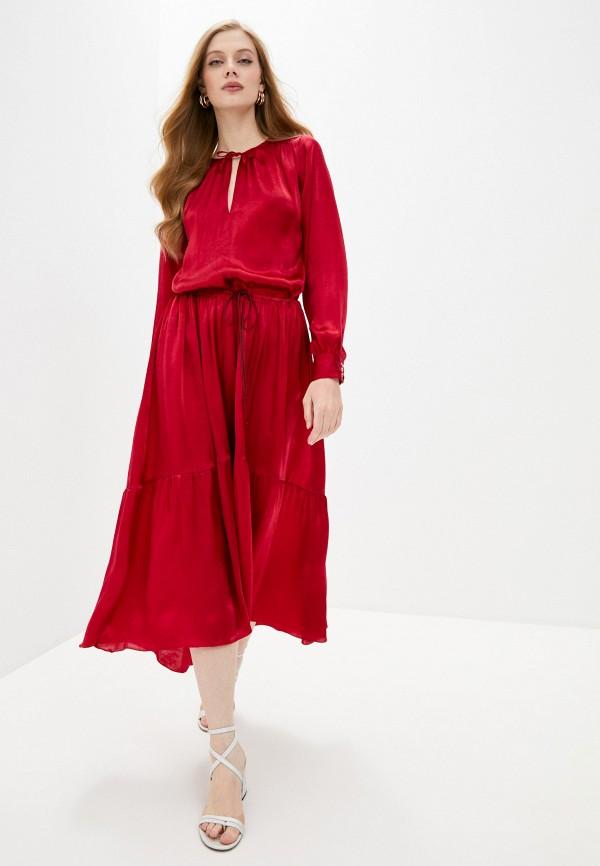 женское повседневные платье forte forte, бордовое