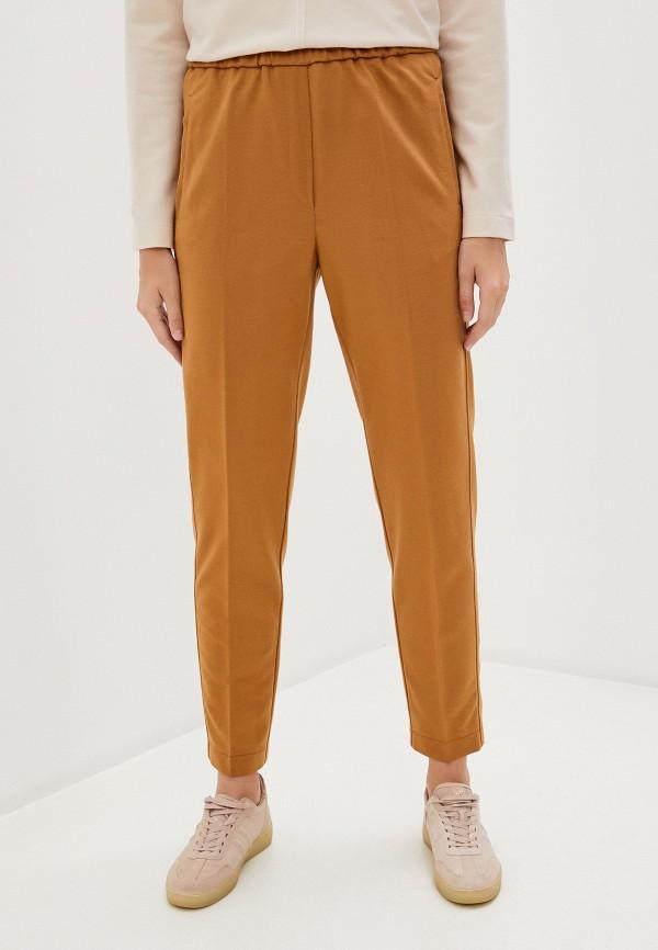 женские повседневные брюки forte forte, оранжевые