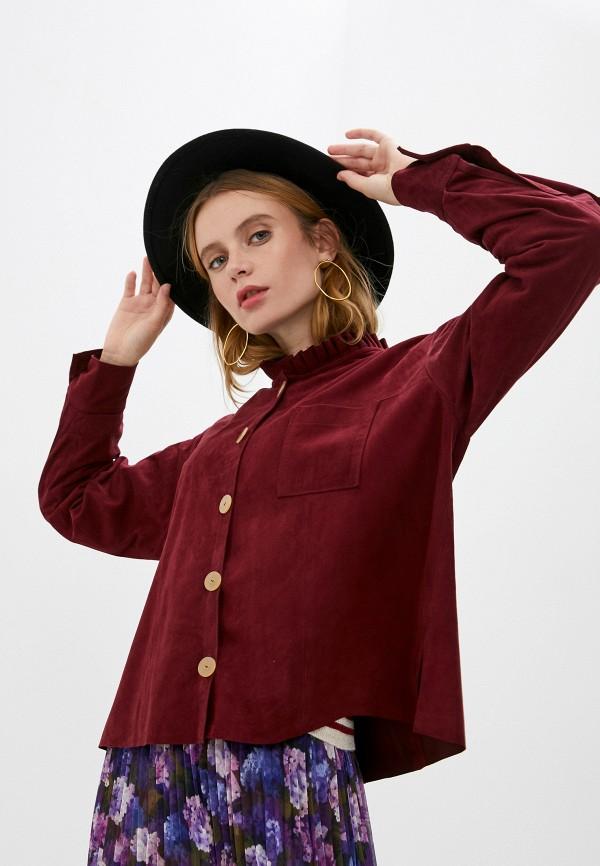женская блузка forte forte, бордовая