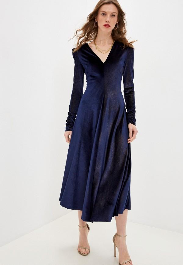 женское вечерние платье forte forte, синее
