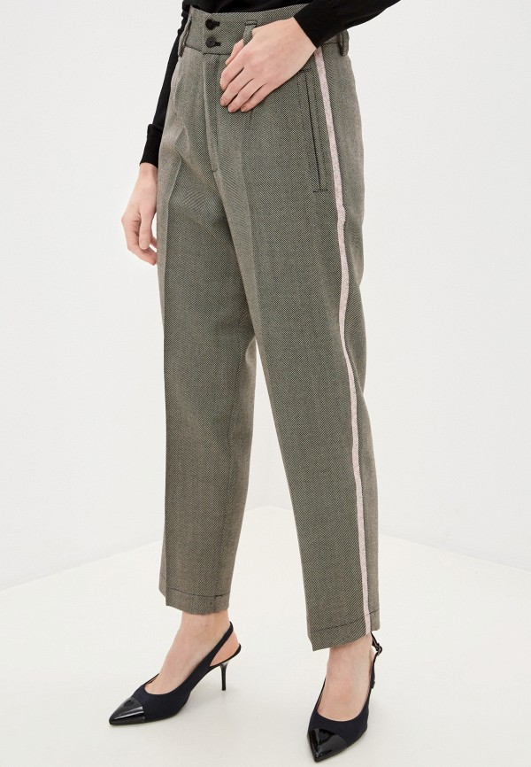 женские классические брюки forte forte, бежевые