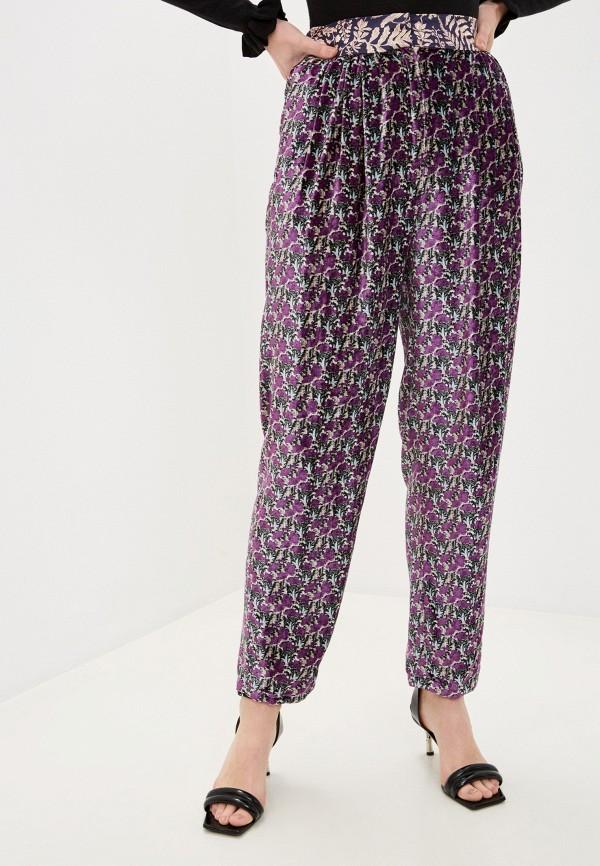 женские брюки forte forte, фиолетовые