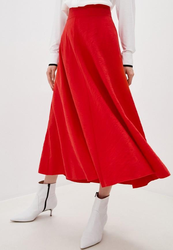 женская юбка forte forte, красная
