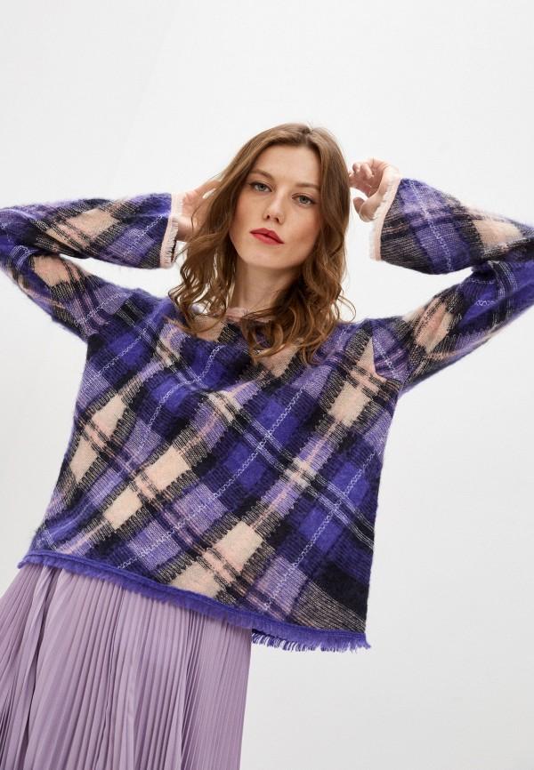 женский джемпер forte forte, фиолетовый