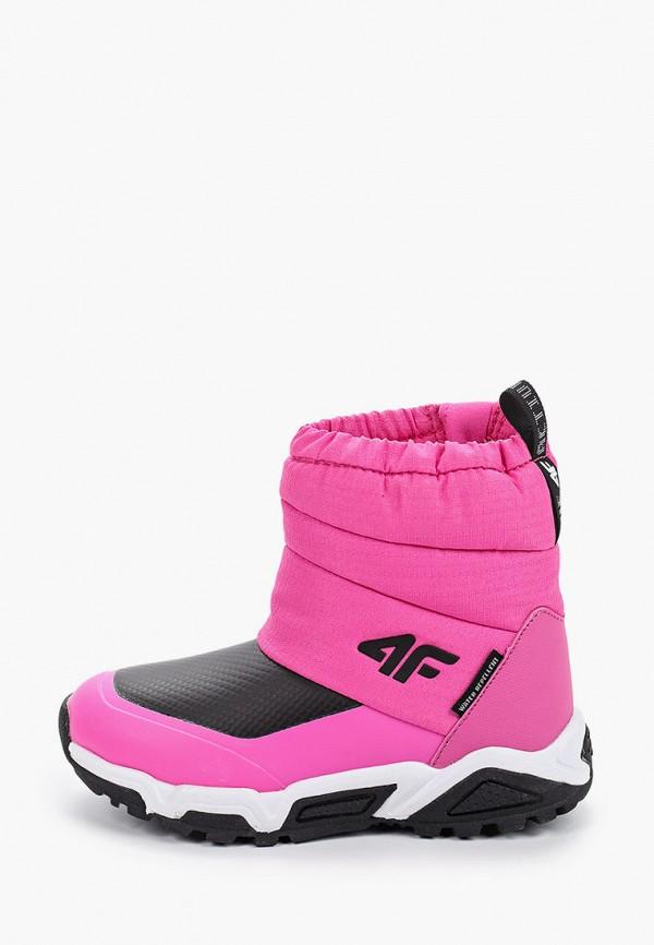 дутики 4f для девочки, розовые