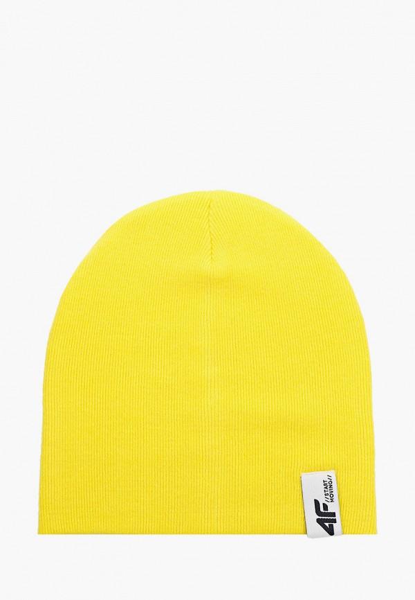 шапка 4f для мальчика, желтая