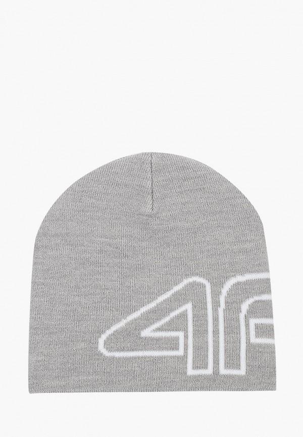 шапка 4f для мальчика, серая