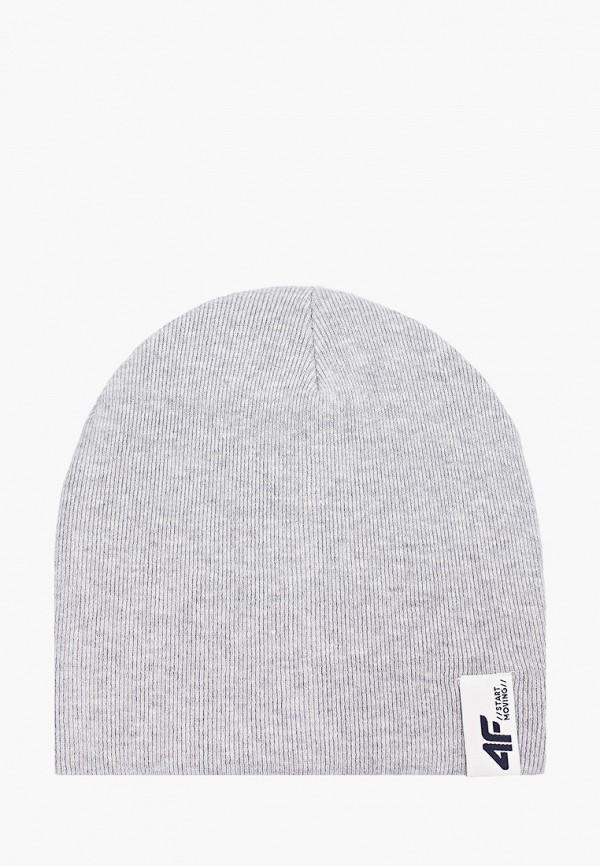 шапка 4f для девочки, серая