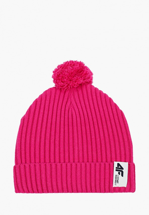 шапка 4f для девочки, розовая
