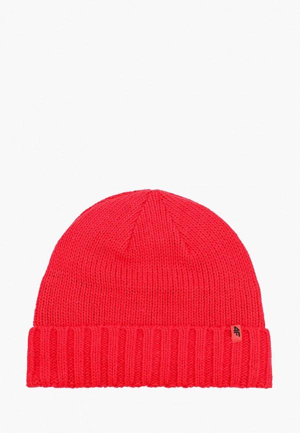 мужская шапка 4f, красная