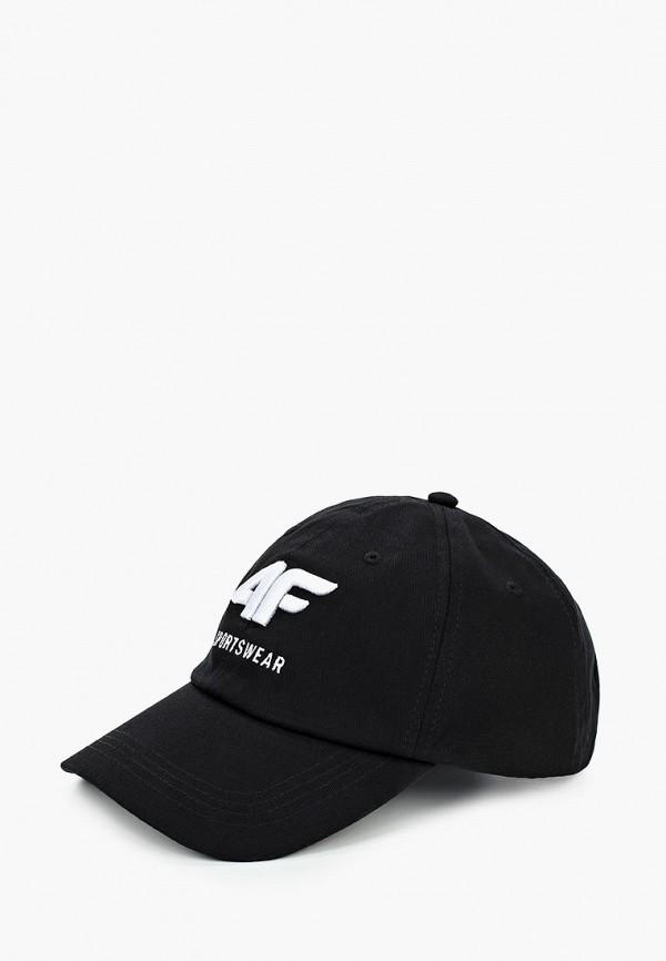 мужская бейсболка 4f, черная