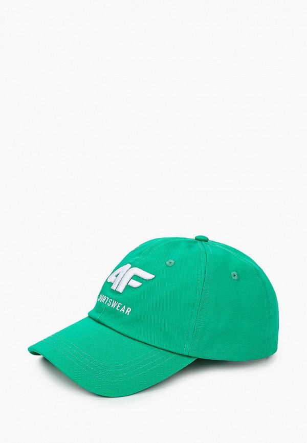 мужская бейсболка 4f, зеленая
