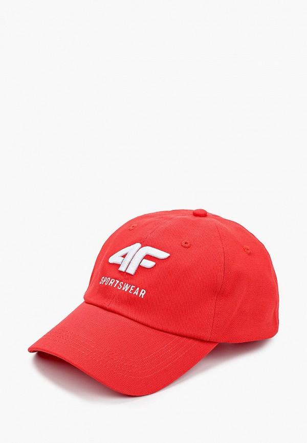 мужская бейсболка 4f, красная