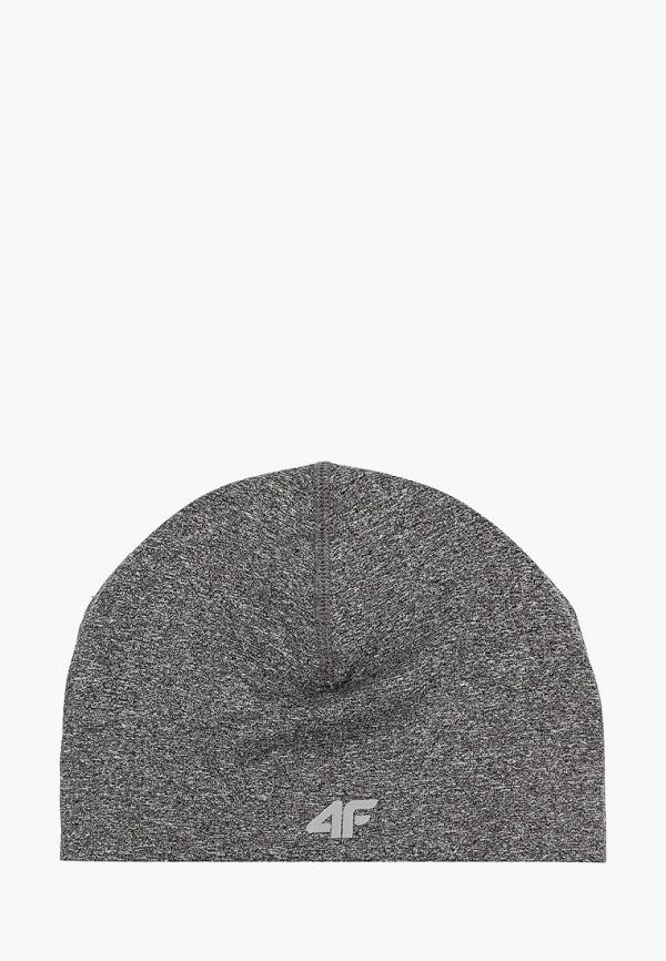 женская шапка 4f, серая