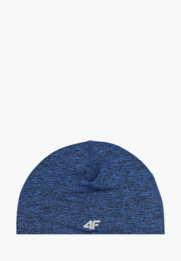 женская шапка 4f, синяя