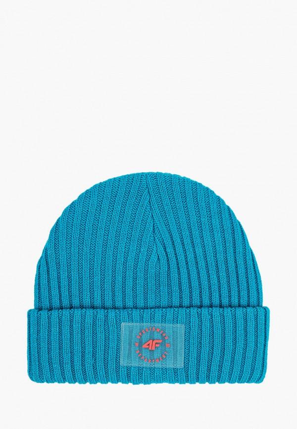 женская шапка 4f, бирюзовая