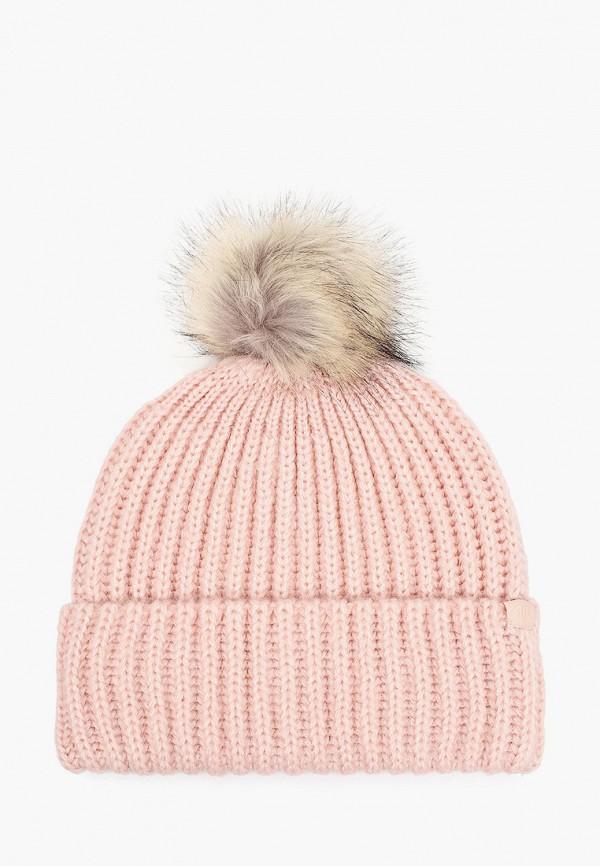 женская шапка 4f, розовая