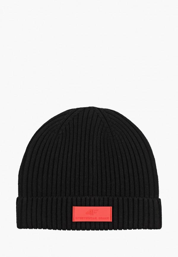 женская шапка 4f, черная