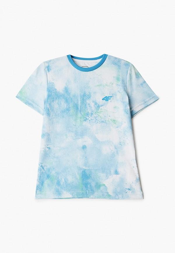 футболка 4f для мальчика, голубая