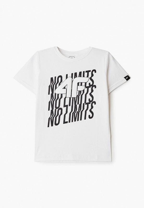 футболка 4f для мальчика, белая