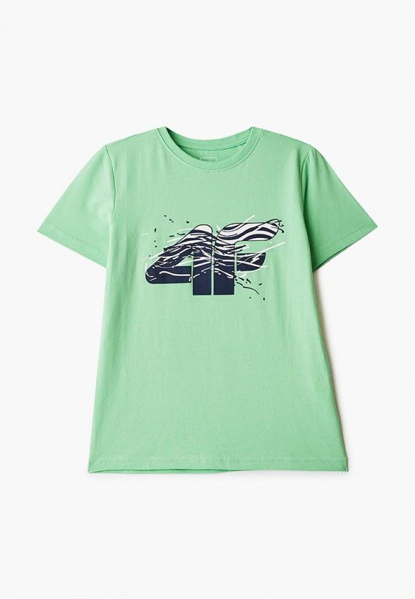 футболка 4f для мальчика, зеленая