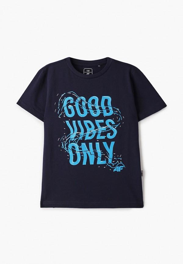 футболка 4f для мальчика, синяя