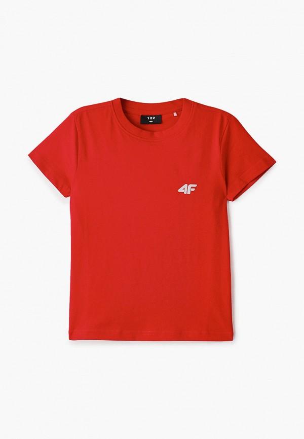 футболка 4f для мальчика, красная