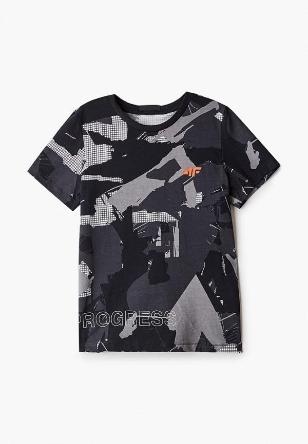 футболка 4f для мальчика, серая