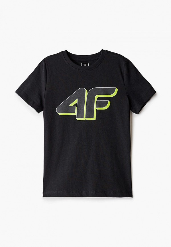 футболка 4f для мальчика, черная