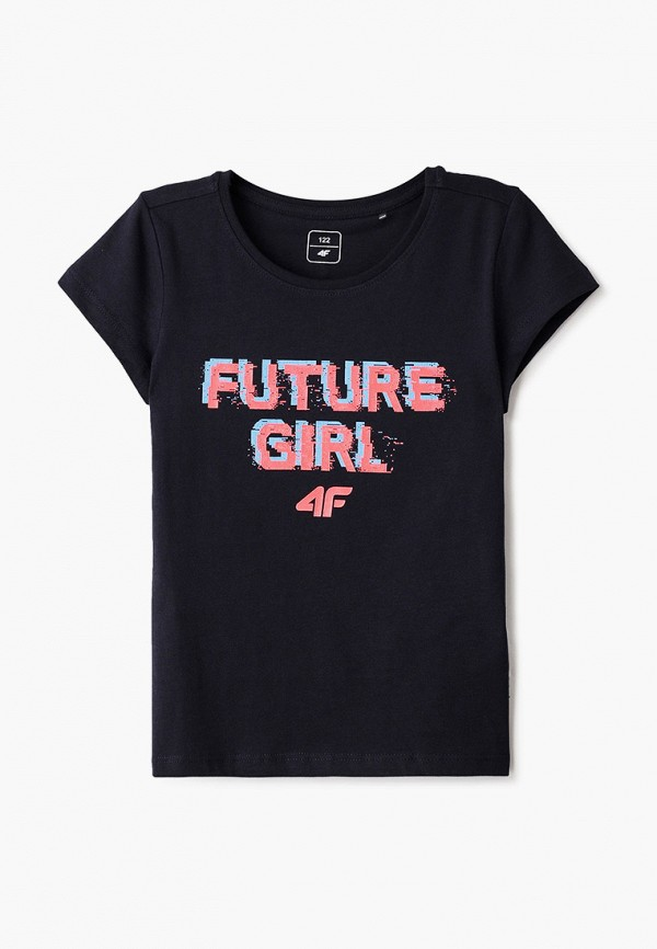 футболка 4f для девочки, синяя