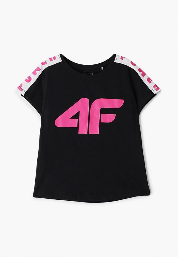 футболка 4f для девочки, черная
