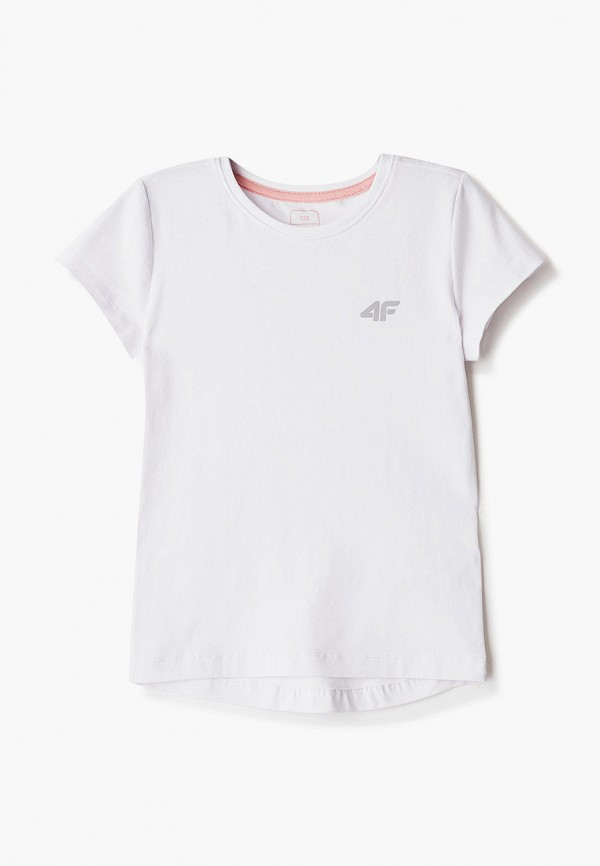 футболка 4f для девочки, белая