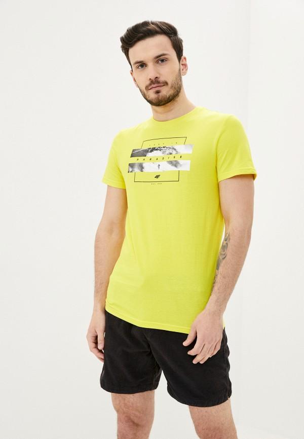 мужская спортивные футболка 4f, желтая
