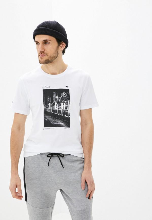 мужская спортивные футболка 4f, белая