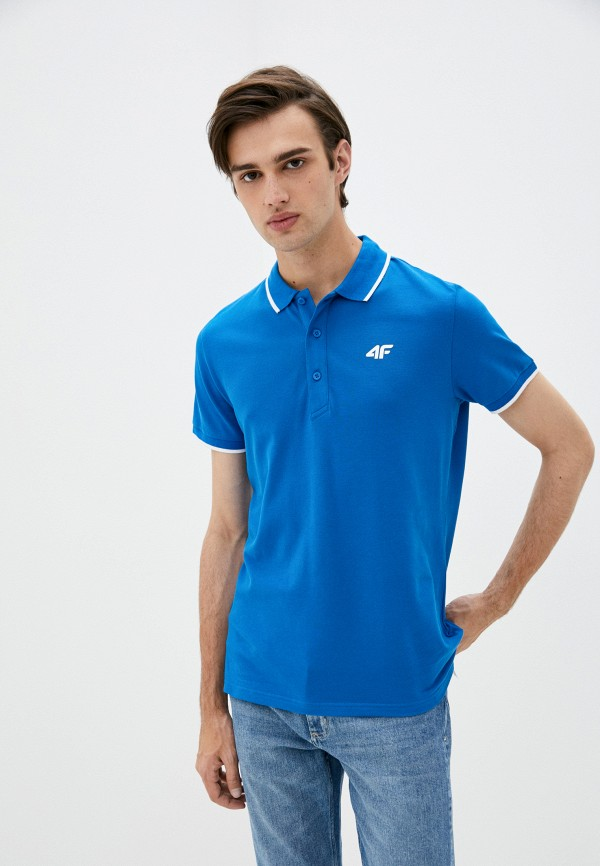 мужское поло 4f, синее