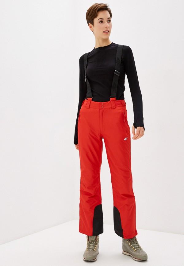 женские сноубордические брюки 4f, красные