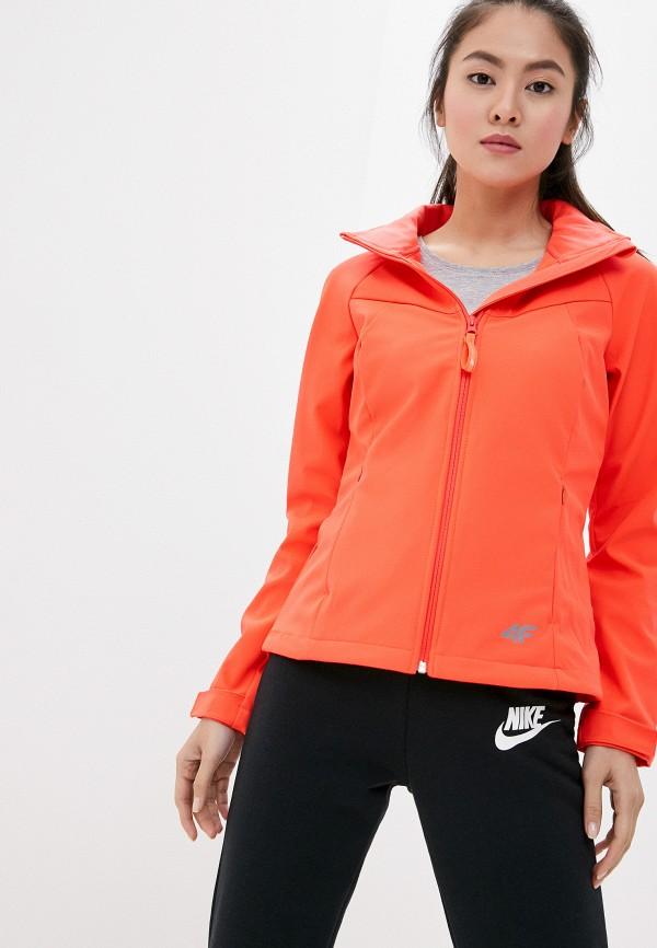 женская куртка 4f, красная