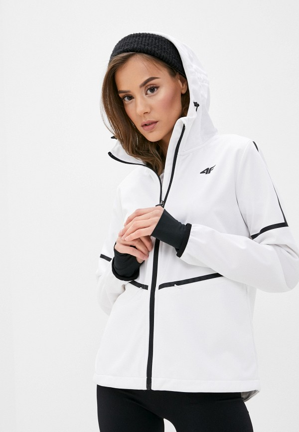 женская куртка 4f, белая