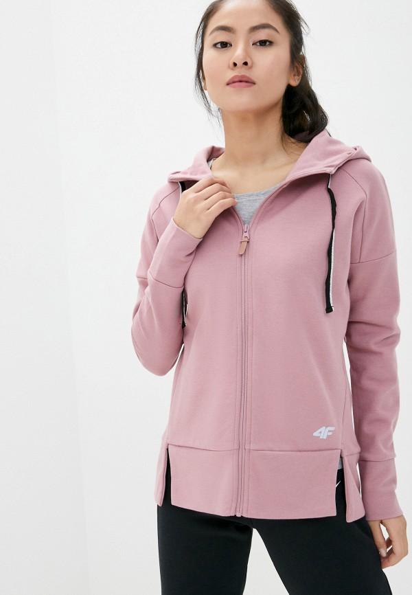 женская толстовка 4f, розовая