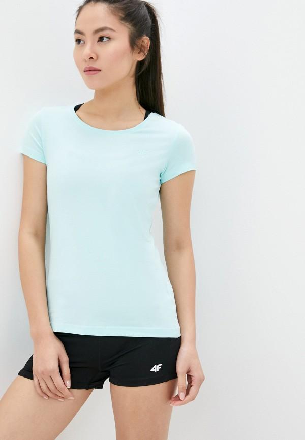 женская спортивные футболка 4f, бирюзовая