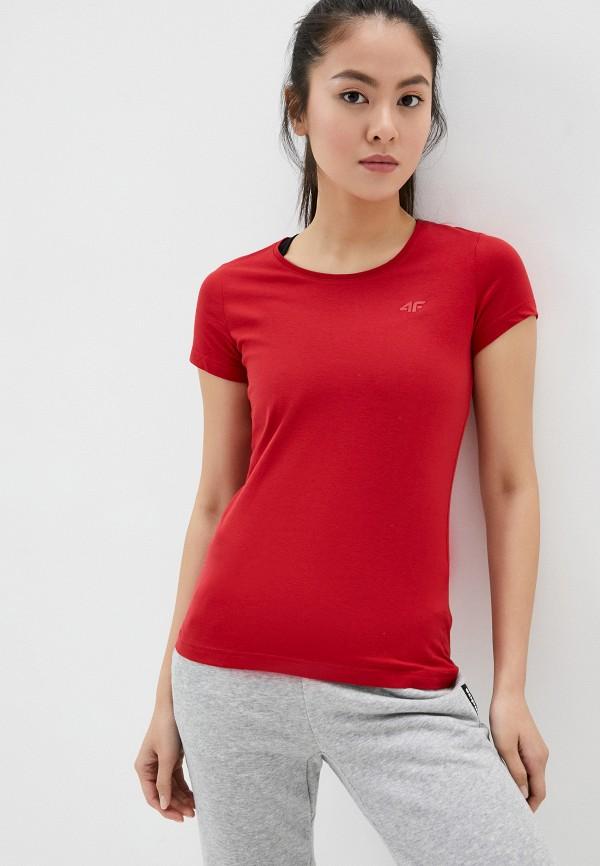 женская спортивные футболка 4f, красная