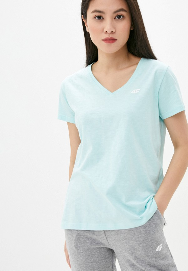 женская спортивные футболка 4f, зеленая