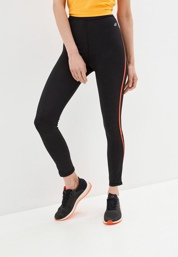 женские спортивные леггинсы 4f, черные