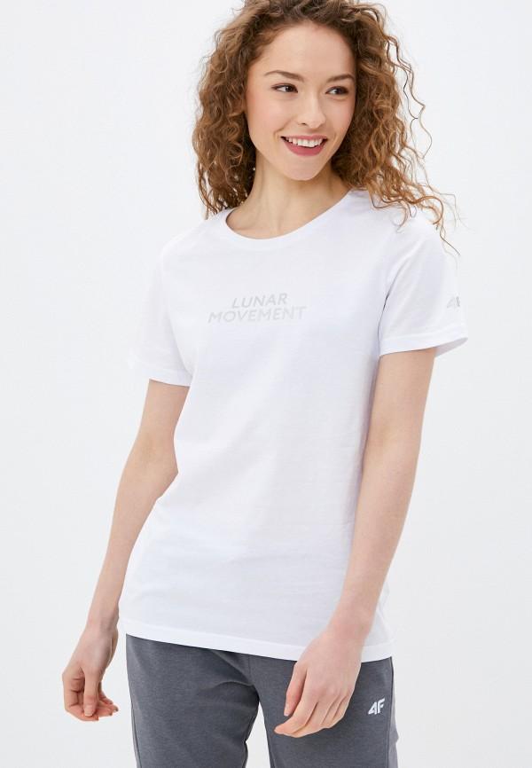 женская спортивные футболка 4f, белая