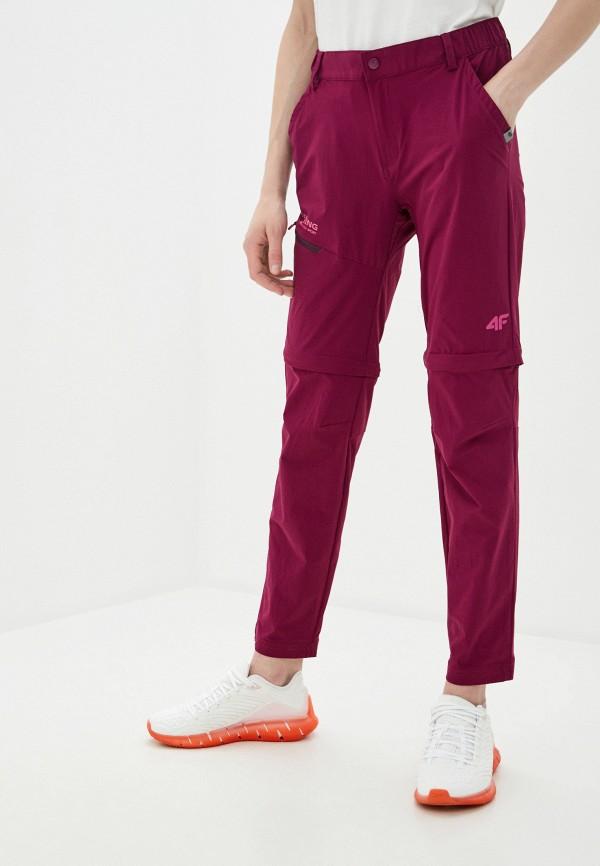 женские спортивные брюки 4f, бордовые