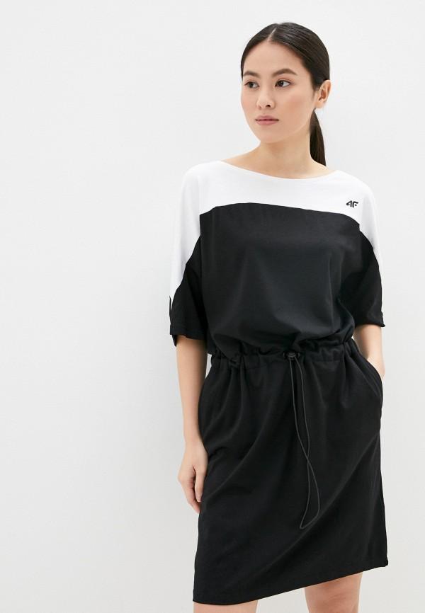 женское спортивные платье 4f, черное