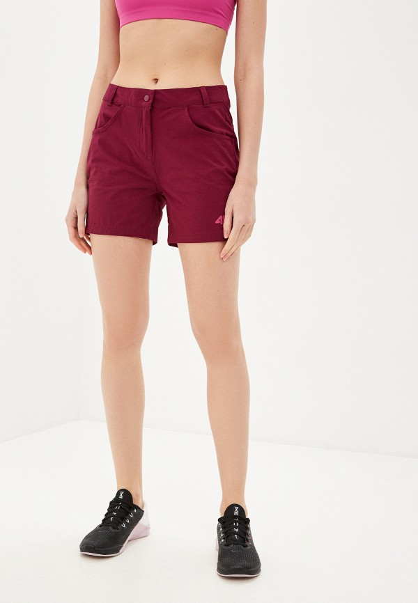 женские спортивные шорты 4f, бордовые