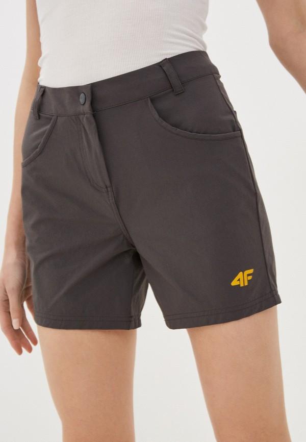 женские спортивные шорты 4f, серые