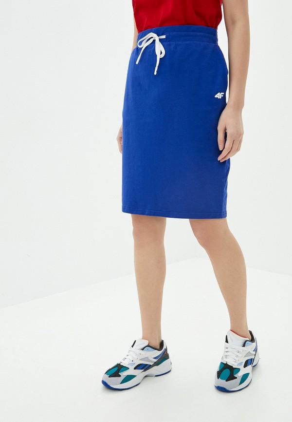 женская спортивные юбка 4f, синяя