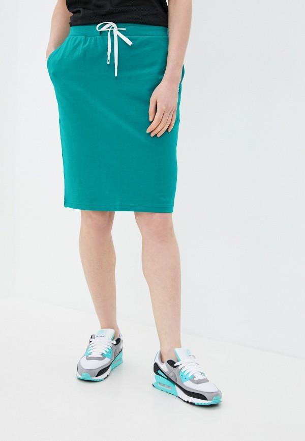 женская спортивные юбка 4f, бирюзовая